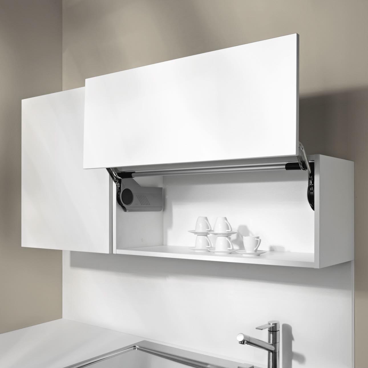 Elegant Oberschrank Mit Lifttürbeschlag