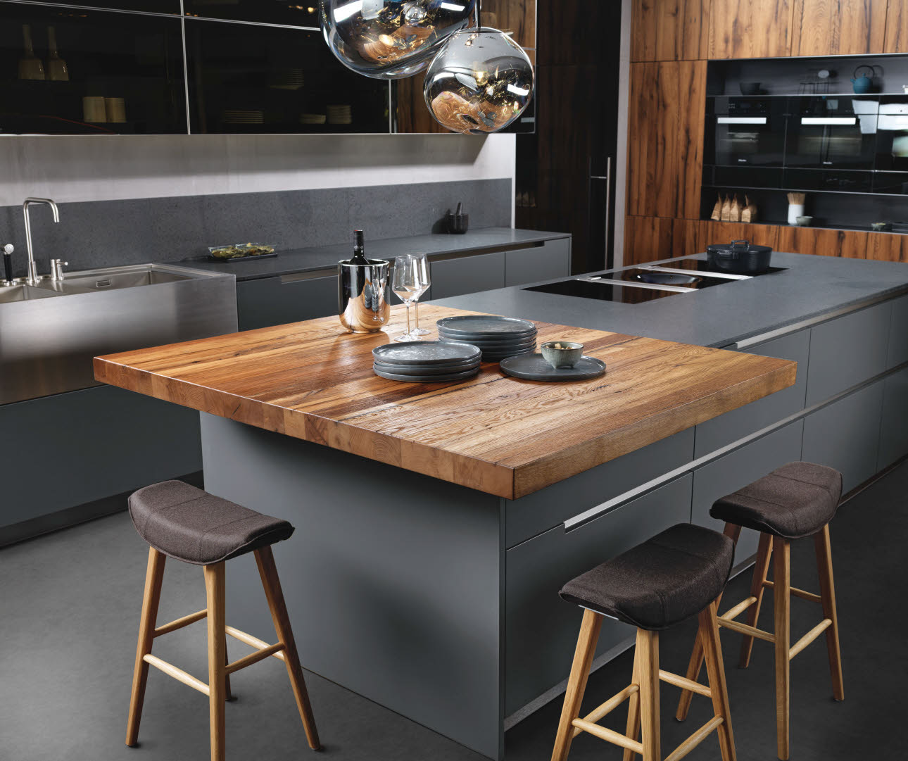 grey design kitchen