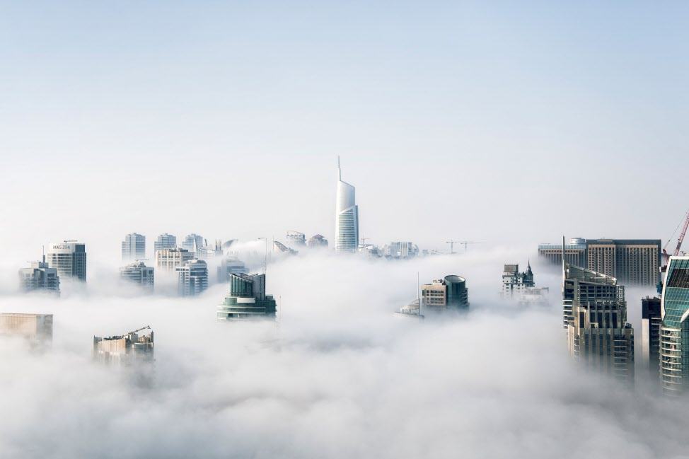 Clouds in the city
