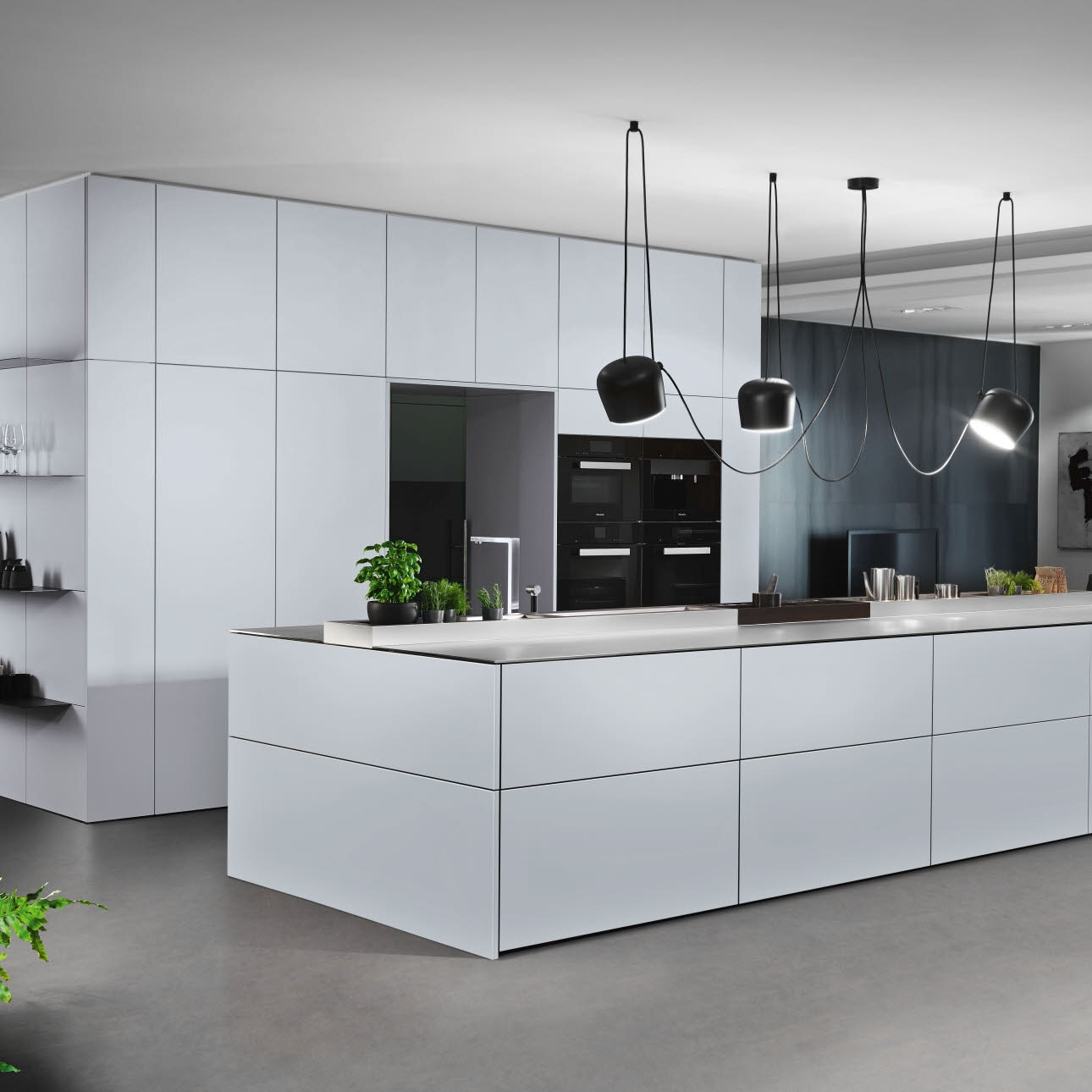 Puristic white design kitchen