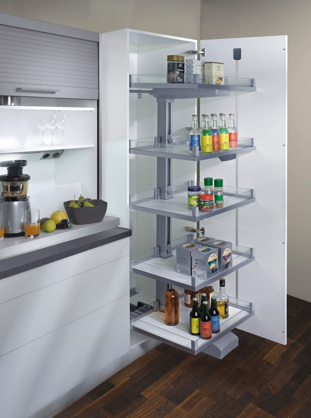 pantry cabinet with convoy lavido drawer. Black Bedroom Furniture Sets. Home Design Ideas