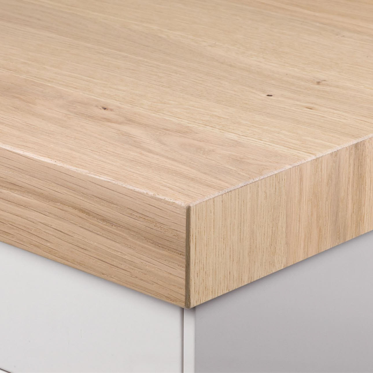 Furnierte Thekenplatte 60mm white oak